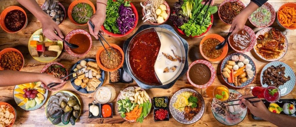 Chinese hot pot and BBQ at Suca Hot Pot Riverfrontcity.